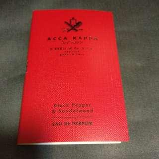 Acca Kappa Black Pepper & Sandalwood Sample