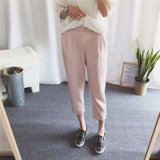 CASUAL PANTS IN BABY PINK