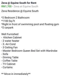 Zeva Residence @ Equine South