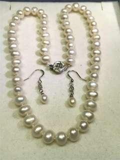 珍珠頸錬及耳環一套
