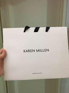 Karen Millen paper bag