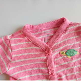 Carter's Baby Girl Pink Stripes Romper