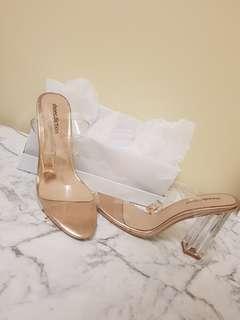 Transparent womens heel