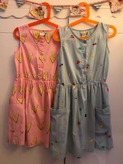 Cotton On Kids Girls Sundress - Size 7 - Bundle of 2