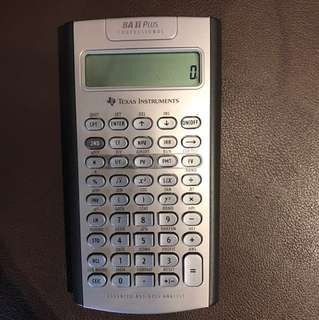 BA II Plus Professional Advanced Texas Instruments Financial Calculator