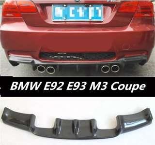 Bmw e92 e93 rear bumper diffuser carbon fiber