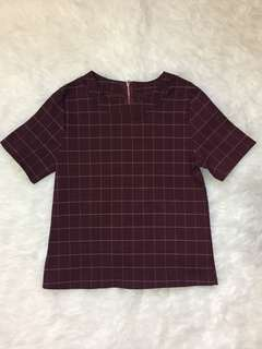 Maroon Square Top