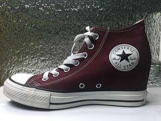 Converse (Maroon Wedge) GOOD AS NEW