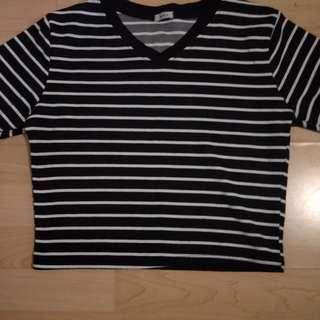 Black and white strips shirt