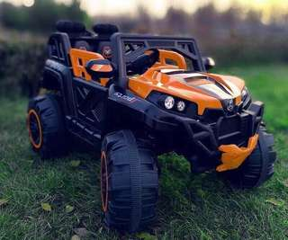 Orange Jeep 1699 Rechargeable Ride On Truck Car
