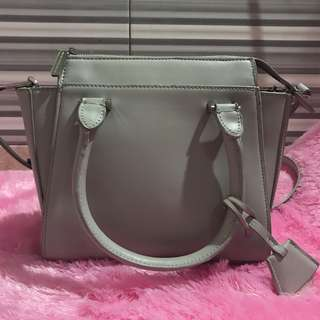 Charles & Keith CK Mini City Bag - Grey