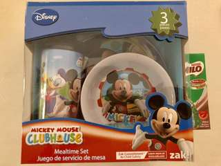 3pc Mickey Mouse Mealtime set