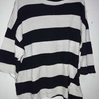 KAOS STRIPE MODEL OVERSIZED PANJANG TANGGUNG