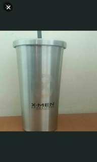 出售全新MARVEL X-MEN不銹鋼杯連飲管
