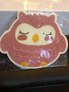 Pink owl mouse pad