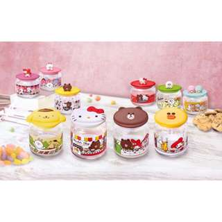 7-11 Sanrio x Line Characters Glass Container (Sweetness Overload)