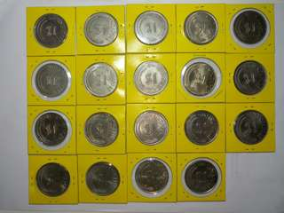Old $1 Coins of Singapore 1967-1985