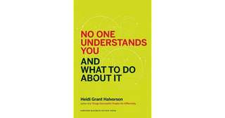 eBook - No One Understands You and What To Do About It by Heidi Grant Halvorson
