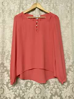 F21 Coral top
