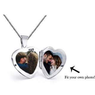 NKLL-043- 925 Silver Photo Love Locket Necklac