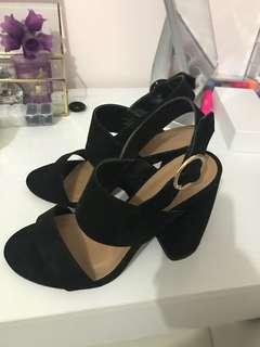 ASOS Black bloc heels
