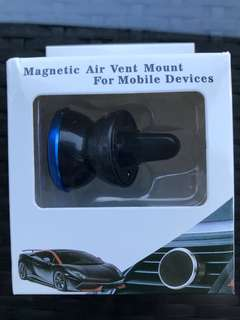 Magentic Air vent mount for mobile devices