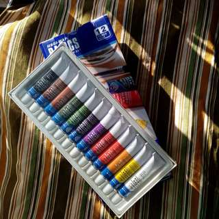 12 Water Color Tubes