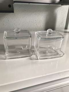 Acrylic container for cotton buds