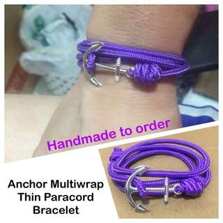 Anchor multiwrap thin paracord bracelet (thin (2.5-3mm); wrist size customisation) [uncle anthony] FOR MORE PICS & DETAILS, 👉 http://carousell.com/p/108612508