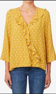 Seed Wrap Frill Spot Top
