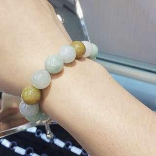 三色彩珠(黃翡,綠,紫).      順豐包郵