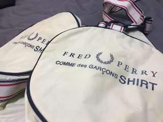 CDG X FRED PERRY Duffle Bag