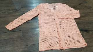 sweater rajut pink salem