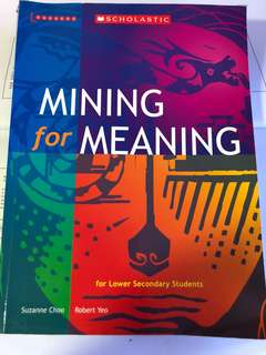 Mining for Meaning lower secondary literature book (Scholastic)