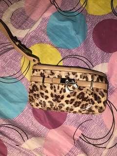 Guess Leopard Wristlet