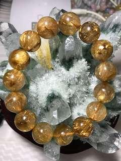 金发晶加钛晶
