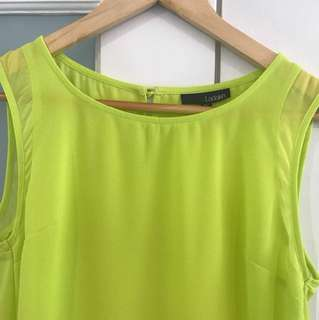 LADAKH top in chartreuse