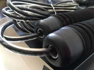 Free Attractive Sophisticated Black Jump Rope With purchase of any item with red comment balloon