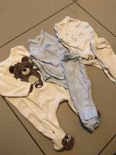 H&M & Zara Baby - Newborn 0/1m Sleepsuits
