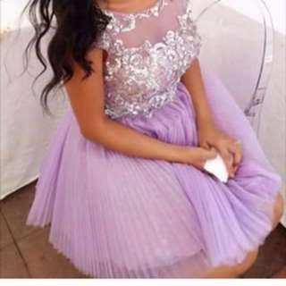 SHERRI HILL short formal dress in lilac
