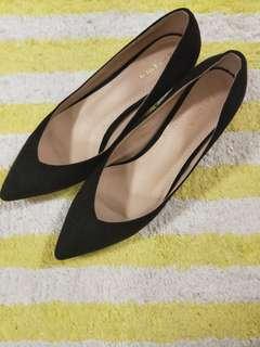 Zalora Low Black Heels
