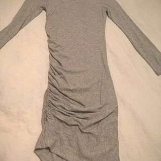 KOOKAI fitted grey dress with long sleeves