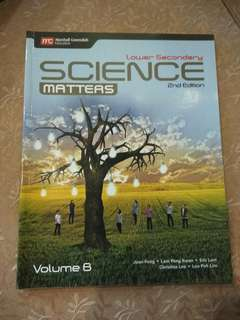 Lower Secondary Science Matters Volume B 2nd edition Textbook.