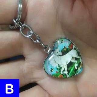 Unicorn heart pendant keychain / dangle [uncle anthony] FOR MORE PICS & DETAILS, 👉 http://carousell.com/p/137495893