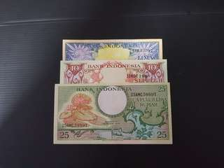 1959 Indonesia 5, 10, 25 Rupiah