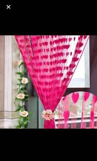 Heart tassel backdrop / curtain