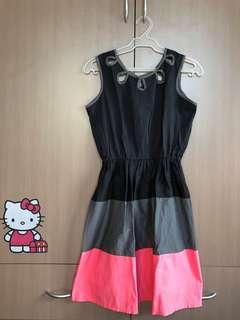 Black-Gray-Pink Dress