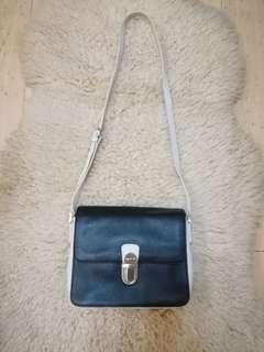 Agnes b lady's lamb leather side shoulder bag
