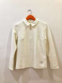 CREAM COLLARED SWEATER