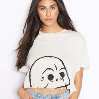 Cheap Monday Skull Crop Tee Tshirt